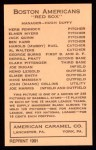 1922 E120 American Caramel Reprint #9  Herb Pennock  Back Thumbnail