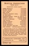 1922 E120 American Caramel Reprint #5  Bennie Karr  Back Thumbnail