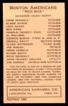 1922 E120 American Caramel Reprint #13  Muddy Ruel  Back Thumbnail