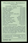 1922 E120 American Caramel Reprint #197  Art Fletcher  Back Thumbnail