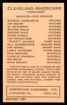 1922 E120 American Caramel Reprint #34  John Graney  Back Thumbnail