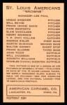 1922 E120 American Caramel Reprint #95  Francis Ellerbe  Back Thumbnail