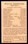 1922 E120 American Caramel Reprint #15  Al Walters  Back Thumbnail