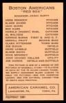 1922 E120 American Caramel Reprint #10  Clarke Pittenger  Back Thumbnail
