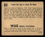 1939 Gum Inc. War News Pictures #80   French Use Pigs To Touch off Mines Back Thumbnail