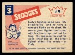 1959 Fleer Three Stooges #9   You Lied You Told Me He Could  Back Thumbnail