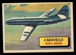 1957 Topps Planes #37 BLU  Caravelle Front Thumbnail