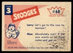 1959 Fleer Three Stooges #68   Quick Call the S.P.C.A. Back Thumbnail