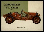 1954 Topps World on Wheels #65   Thomas Flyer Speedster 1910 Front Thumbnail