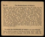 1938 Gum Inc. Horrors of War #44   The Bombardment of Almeria Back Thumbnail
