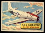1957 Topps Planes #8 BLU  Ad-6 Skyraider Front Thumbnail