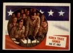 1954 Topps Scoop #67 xCOA  Korea Truce Signed  Front Thumbnail