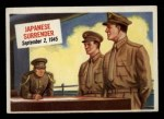 1954 Topps Scoop #58   Japanese Surrender Front Thumbnail