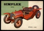 1954 Topps World on Wheels #29   Simplex Speed Car 1910 Front Thumbnail