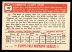 1952 Topps REPRINT #107  Connie Ryan  Back Thumbnail