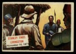 1954 Topps Scoop #102 xCOA  Stanley Finds Livingston Front Thumbnail