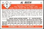 1953 Bowman REPRINT #8  Al Rosen  Back Thumbnail