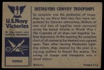 1954 Bowman U.S. Navy Victories #7   Destroyers Convoy Troopships Back Thumbnail