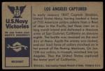 1954 Bowman U.S. Navy Victories #21   Los Angeles Captured Back Thumbnail