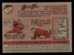 1958 Topps #173  Eddie Yost  Back Thumbnail