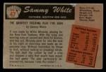 1955 Bowman #47  Sammy White  Back Thumbnail
