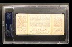 1912 T202 Hassan   -  Bobby Wallace / Barney Pelty Close Play at Home Plate  Back Thumbnail