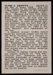 1950 Callahan Hall of Fame  Clark Griffith  Back Thumbnail