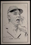 1950 Callahan Hall of Fame  Clark Griffith  Front Thumbnail