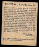 1935 National Chicle #19  Ralph Kercheval   Back Thumbnail