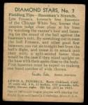 1935 Diamond Stars #7  Lew Fonseca  Back Thumbnail