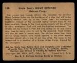1941 Gum Inc Uncle Sam #108   Drivers Corps Back Thumbnail