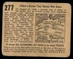 1938 Horrors of War #277   Hitler's Border Tour Raises War Scare Back Thumbnail