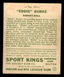 1933 Goudey Sport Kings #33  Eddie Burke   Back Thumbnail