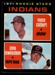 1971 O-Pee-Chee #231   -  Vince Colbert / John Lowenstein Indians Rookies Front Thumbnail
