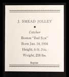 1933 Tattoo Orbit Reprint #36  Smead Jolley  Back Thumbnail