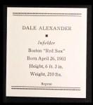 1933 Tattoo Orbit Reprint #1  Dale Alexander  Back Thumbnail