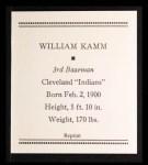 1933 Tattoo Orbit Reprint #38  Willie Kamm  Back Thumbnail