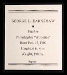 1933 Tattoo Orbit Reprint #17  George Earnshaw  Back Thumbnail