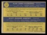 1970 O-Pee-Chee #241   -  Al Fitzmorris / Scott Northey Royals Rookies Back Thumbnail