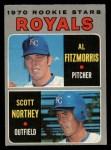1970 O-Pee-Chee #241   -  Al Fitzmorris / Scott Northey Royals Rookies Front Thumbnail