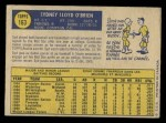 1970 O-Pee-Chee #163  Syd O'Brien  Back Thumbnail