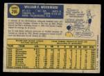 1970 O-Pee-Chee #296  Woody Woodward  Back Thumbnail