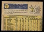 1970 O-Pee-Chee #13  Jack Hiatt  Back Thumbnail