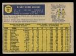 1970 O-Pee-Chee #257  Dennis Higgins  Back Thumbnail