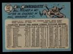 1965 O-Pee-Chee #142  Bill Monbouquette  Back Thumbnail