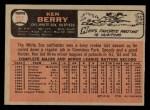 1966 O-Pee-Chee #127  Ken Berry  Back Thumbnail