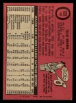 1969 O-Pee-Chee #149  Ollie Brown  Back Thumbnail