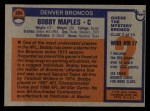 1976 Topps #384  Bobby Maples  Back Thumbnail