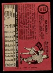 1969 O-Pee-Chee #105  Rick Monday  Back Thumbnail