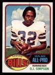 1976 Topps #300  O.J. Simpson  Front Thumbnail